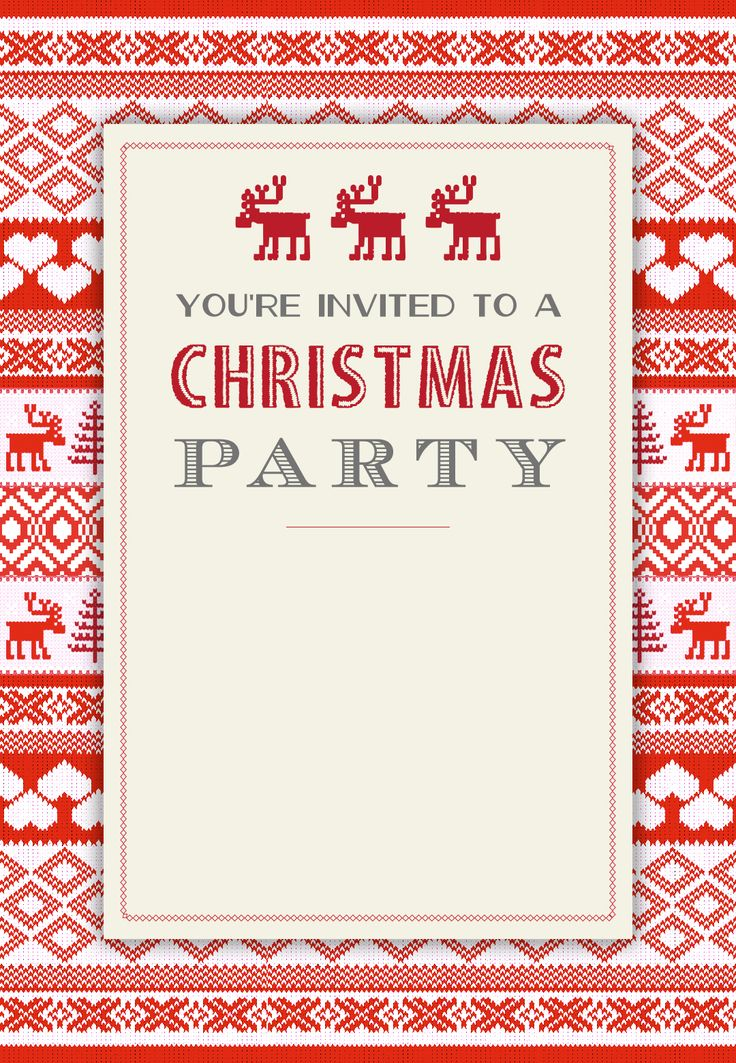 Breathtaking image regarding free printable christmas invitation templates