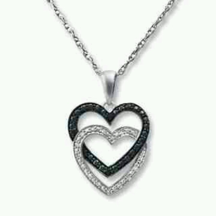 80 best jewelry wishes images on pinterest fine jewelry rings cascading hearts black and white diamonds aloadofball Choice Image