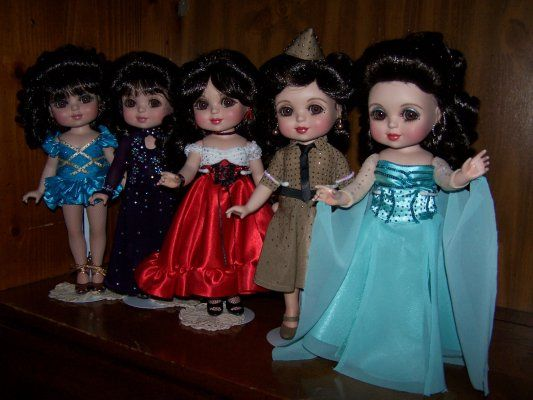 Nancy Peterson's Personal Collection. Marie Osmond dolls sculpted by Marie Osmond.  Dancing With The Stars