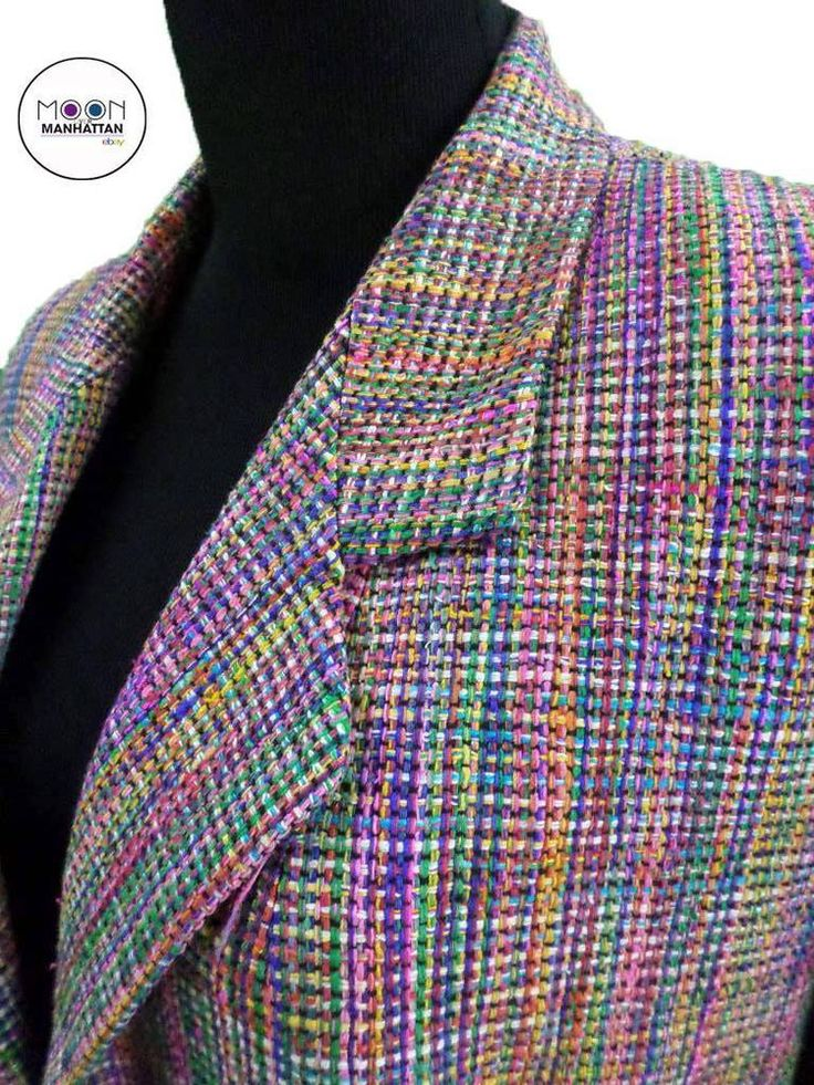Vinci Clothiers 100% Silk Rainbow Plaid Upscale Blazer ...