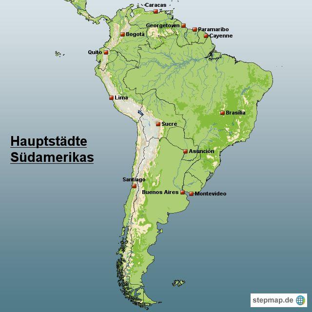 Südamerika Hauptstädte   Südamerika Reiseführer
