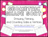 Geometric Shape Sort: Name, Picture, Sides, and Vertices! product from Just-Tinkerin-Around on TeachersNotebook.com