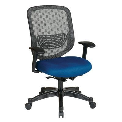Office Star Space High-Back Mesh Desk Chair Upholstery: Nano-Texwith BioAm - Sojourn Green Tea