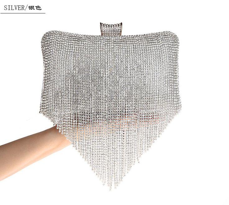 Borla Diamante Saco de Noite Das Mulheres Da Bolsa Da Marca Sacos de Noite Saco de Embreagem Bolsa Feminina de Prata de Ouro Da Moda Branco Preto SMYCWL-A0022