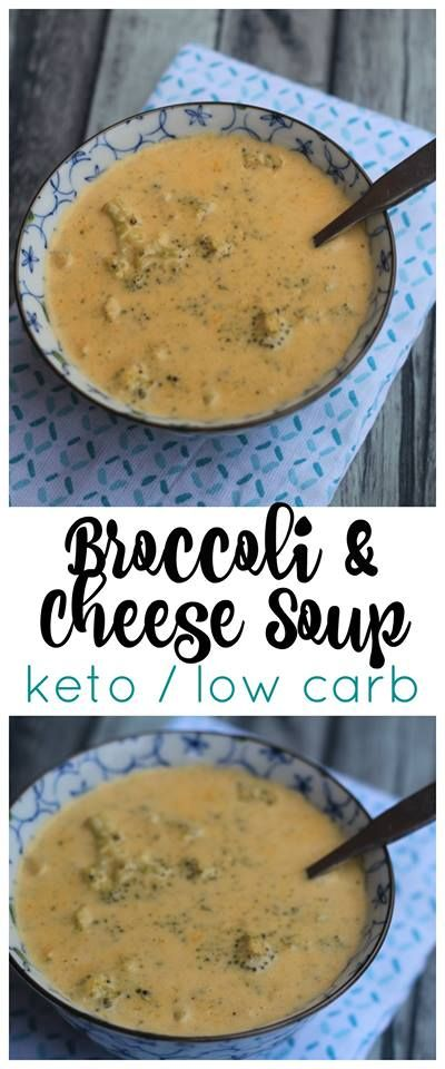 Keto Broccoli & Cheddar Cheese Soup