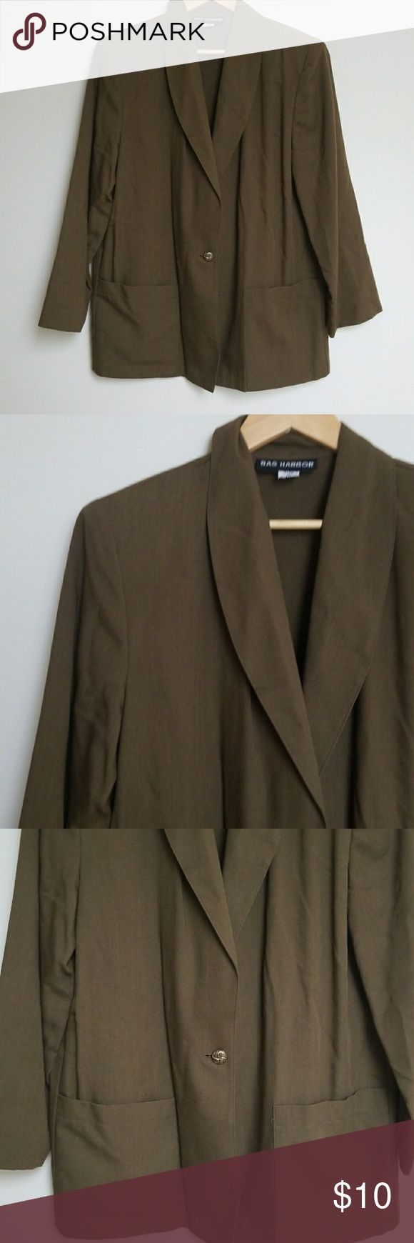 Retro Olive Green Blazer Retro Olive Green Blazer Light Weight Size 12 | Removable Shoulder Pads Like New Condition Pair with somw skinny jeans and pumps Sag Harbor Jackets & Coats Blazers