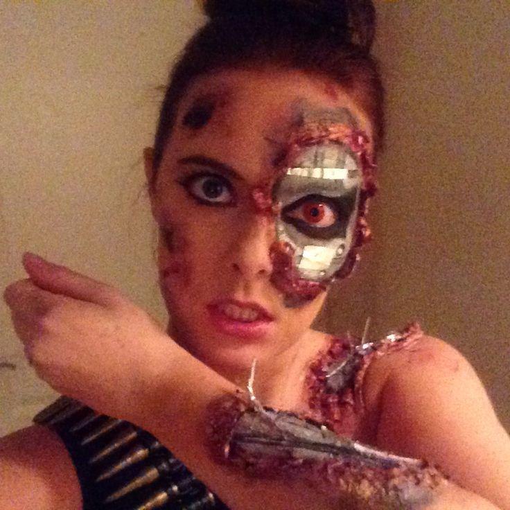 Terminator Makeup, Sarah Connors , Cyborg Costume