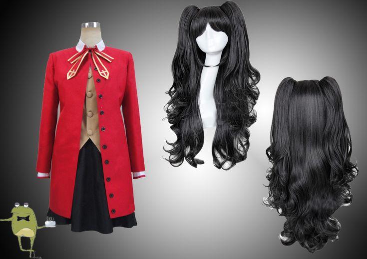 Fate/Stay Night Rin Tohsaka Cosplay Costume + Wig    Custom Made Fate/Stay Night Rin Tohsaka Cosplay Costume + Wig, Buy Rin Tohsaka Cosplay Outfits and Wig Online, Rin Tohsaka Cosplay for Sale!