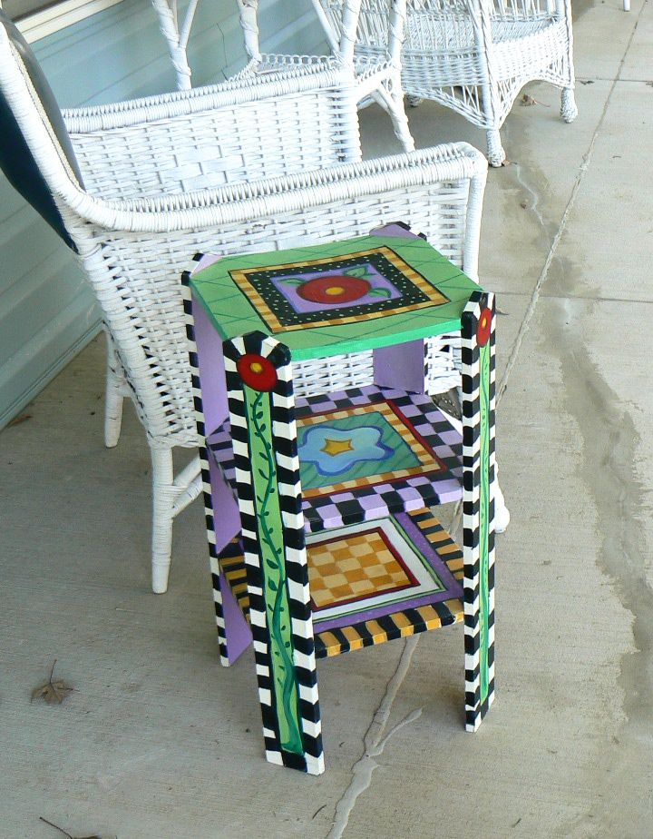 Mary Engelbreit october art   Painted Furniture   The Studios of Stacey Kirby