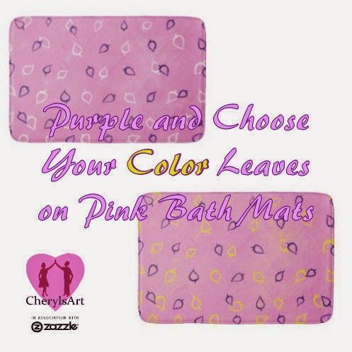 Purple and Choose Your Color Leaves on Pink Bath Mats. This is a fun way to choose your complimenting color on pink and purple bath mats. You'll find the links and instructions here.