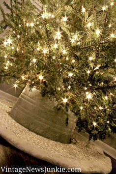 How To Make A Tree Skirt Out Of Galvanized Tub