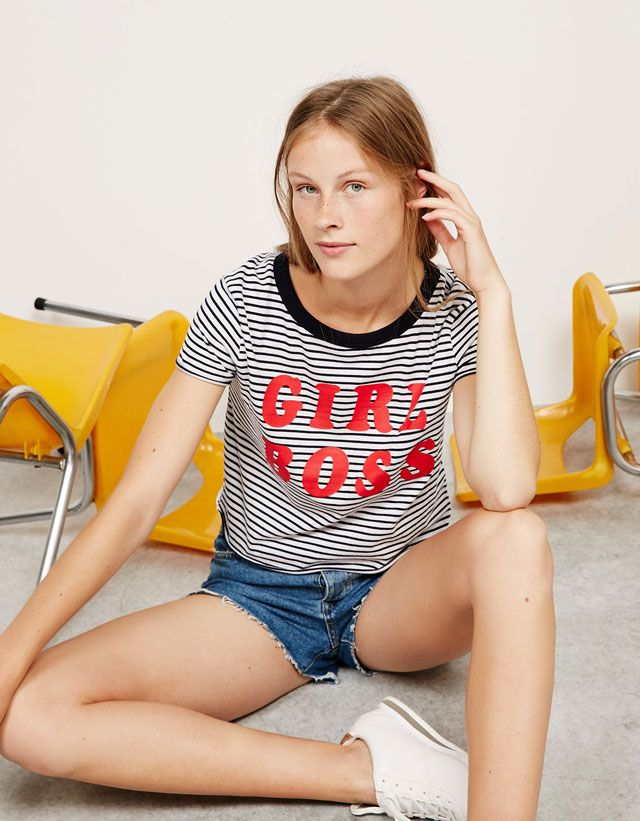 Camisetas - NEW COLLECTION - MUJER - Bershka Colombia