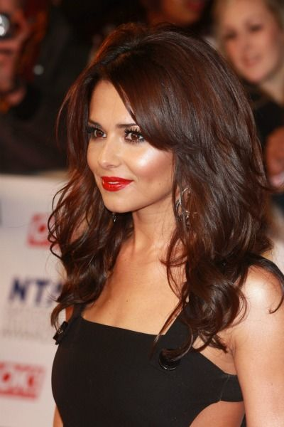 Cheryl Cole brunette hair