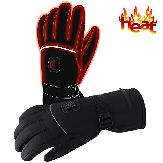 Heated Gloves for Men and Women,Heated Ski Gloves electric Gloves Heat up to 10 Hours Rechargeable Battery Heated Gloves