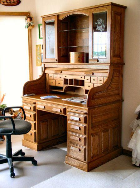 roll top desk -- inside view