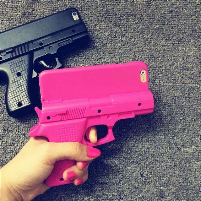 Coque forme insollite fusil cool deux couleurs s'adapte iPhone 6 sur lelinker.fr