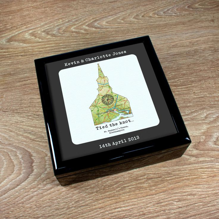 Personalised Where We Tied the Knot Keepsake Box - yourgifthouse