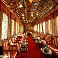 Luxury train interior