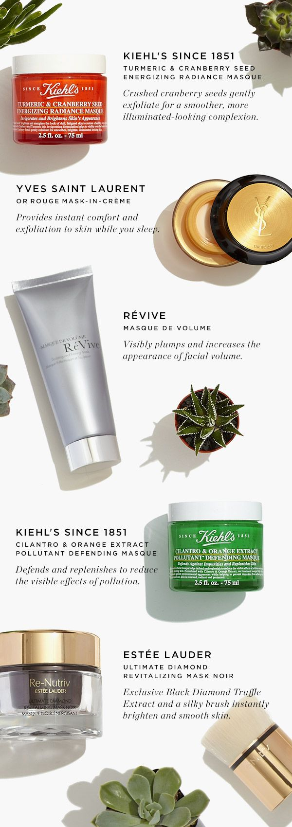 Discover our must-have beauty masks from #EsteeLauder #Kiehls #Revive & #YSL. #SaksBeauty