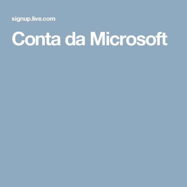 Conta da Microsoft