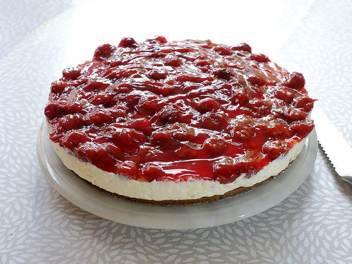 Een makkelijke MonChoutaart met aardbeien