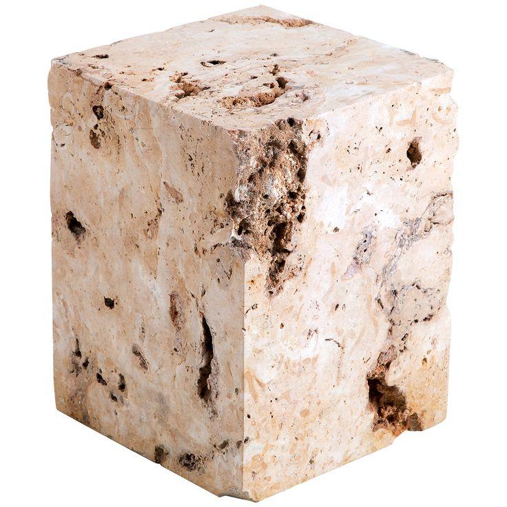 Interlude Home Zara Stone Side Table 158069