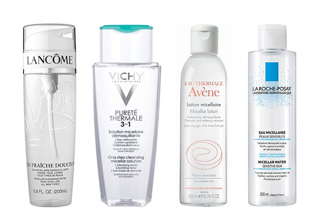 Micellar Cleansing Water: Long popular in France, this skin-care product is finally reaching cult-like status stateside for its ability to remove makeup, cleanse, and tone with just a few swipes of a cotton ball—all without irritating skin. Here's what you need to know about this effective multitasker.