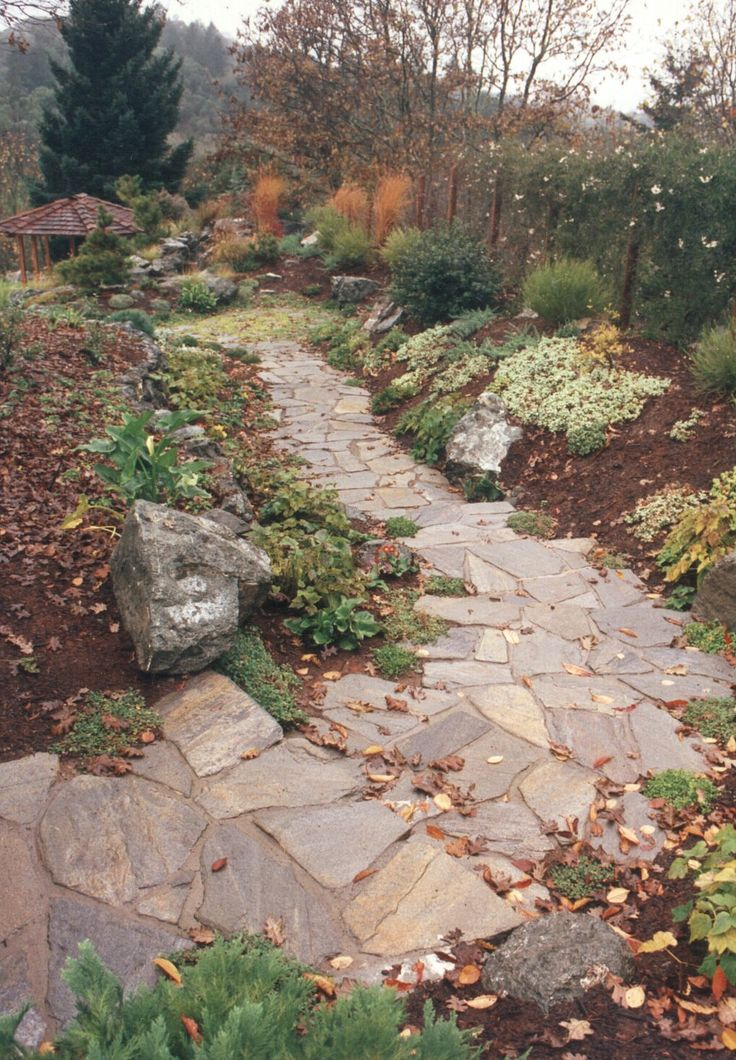 30 best images about flagstone pathways on pinterest for Landscaping rocks merced ca