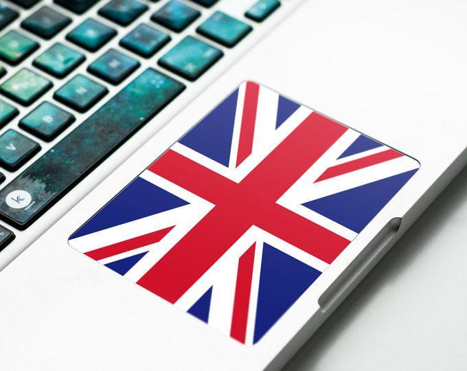 Union Jack Trackpad decal Touchpad Sticker met UK vlag Britse vlag Union Jack voor Apple Macbook Pro, Pro Retina, Macbook Trackpad # UK