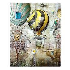 Memoboard magnetisch Heißluftballon Büro einzigartige Motivpinnwand Fliegen