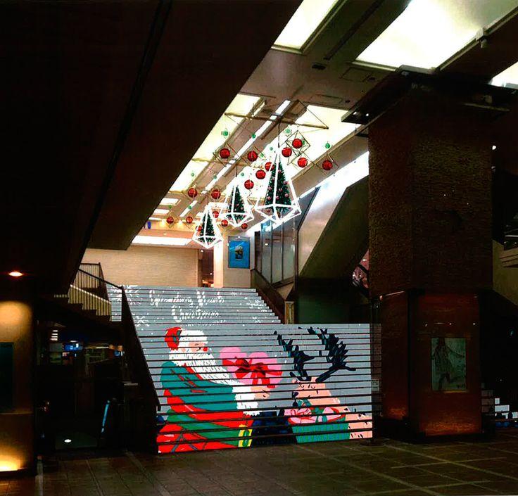 illustrations for odakyu shoping center Tokyo