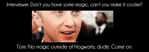 no magic outsides hogwarts!