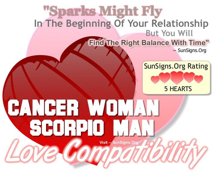 Cancer Woman And Scorpio Man - An Excellent & Balanced Match » Sun Signs