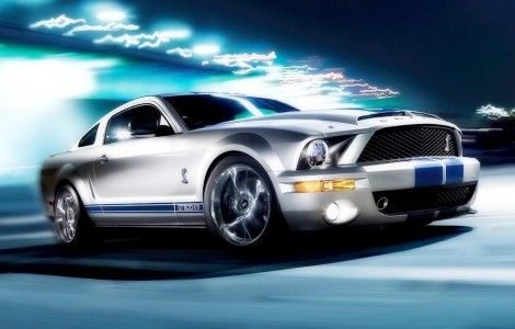 Ford Mustang white custom