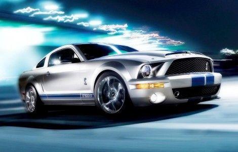 Ford Mustang white custom