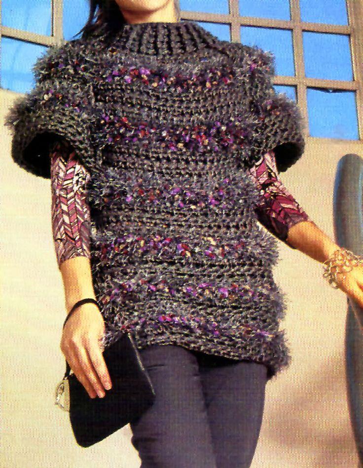 tejidos artesanales: poncho cerrado (talle medium)