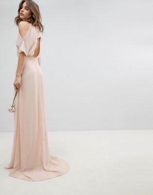 TFNC High Neck Maxi Bridesmaid Dress With Fishtail