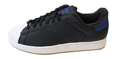Adidas - Herren Turnschuhe Originals Superstar II (45 1/3, Schwarz/Weiß/Königsblau) - http://autowerkzeugekaufen.de/adidas/uk-10-5-us-11-eu-eu-45-1-3-adidas-superstar-foundation