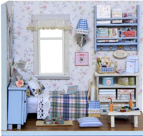 houten poppenhuis miniaturen 1:12 meubilair kit instellen voor