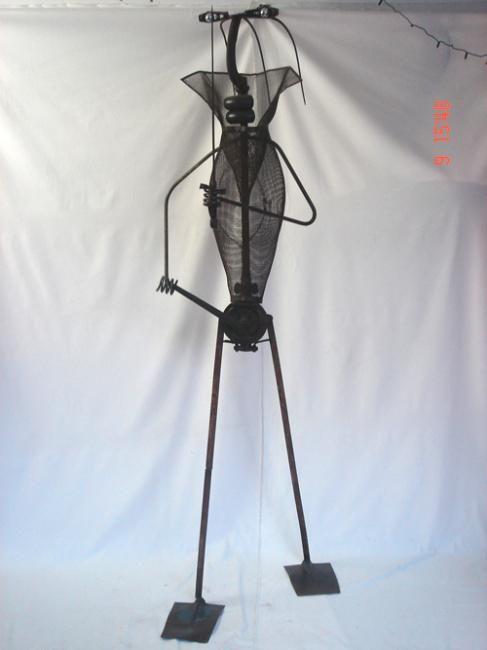 Sculpture La Gardien de l'Ambre métal- Stéphane Rozand