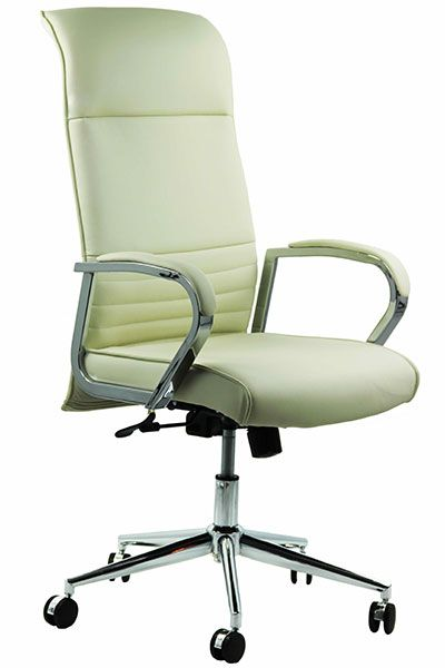 scaun directorial culoare alba