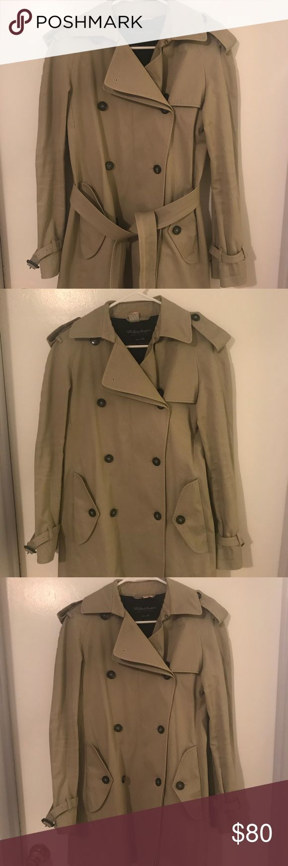 Trench coat Tan trench coat, great condition. Dry cleaned. All Saints Jackets & Coats Trench Coats