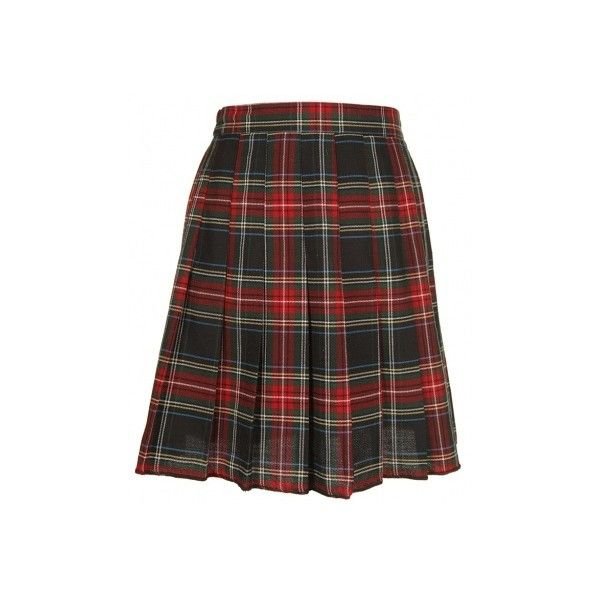 Green & Red Tartan Skirt - Vintage clothing from Rokit - tartan skirt,... ❤ liked on Polyvore