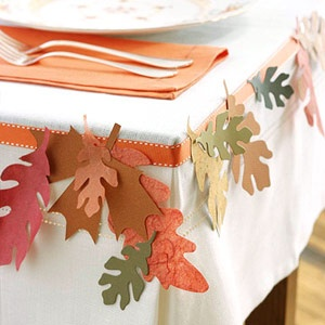 Fall tablecloth idea