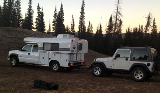Alaskan Camper towing a Jeep | Truck Campers | Pinterest | Young and, The o'jays and Lifestyle