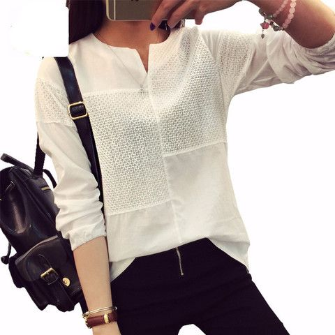 3D Embroidery Autumn Blouse Long Sleeve Plus Size Casual Loose Patchwork Women Tops And Blosues 2016 New Fashion Plaid Shirt