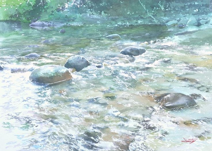 Abe Toshiyuki Watercolor on Waterford, 23x32cm, 2015