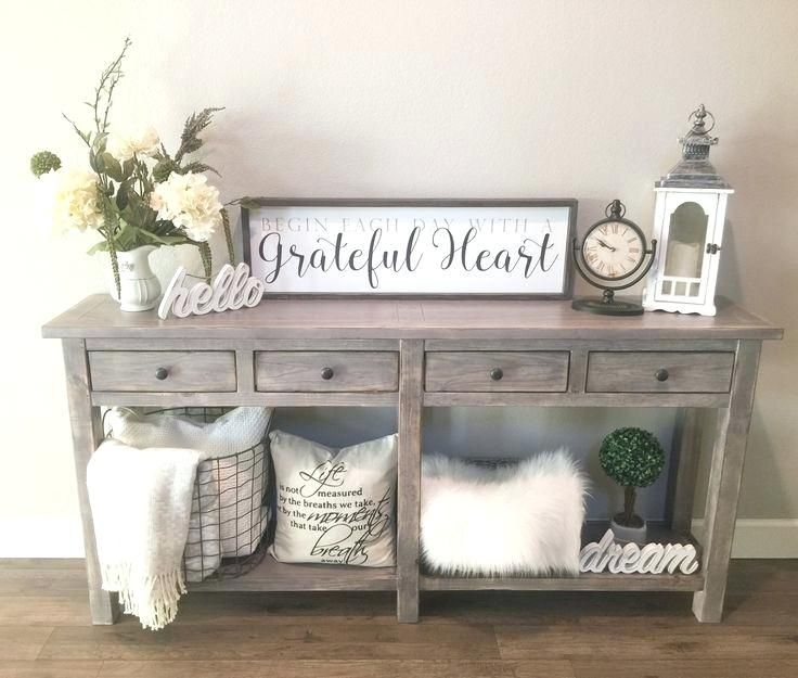 Rustic Grey Entry Table Love My Entry Table Farmhouse Rustic Our