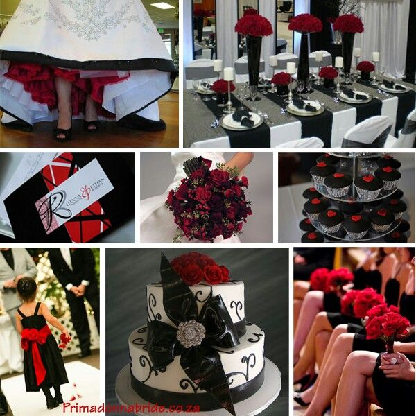 34 best Red, Black and White Wedding images on Pinterest ...