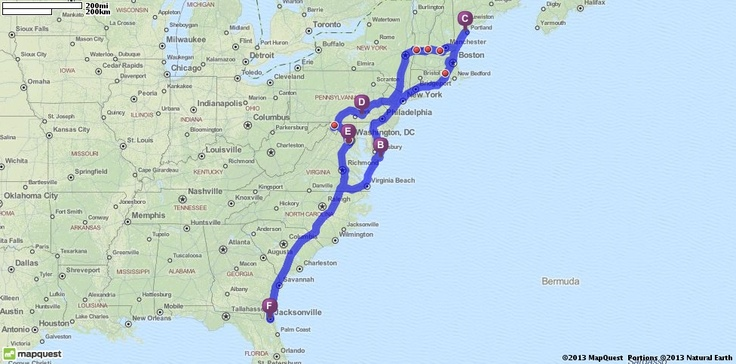 east coast road trip someday